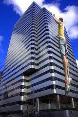 Leaping (swong95765) Tags: building skyscraper leap leaper guy man jump grab perspective vertical architecture buildingcomplex timing
