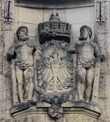 IMG_5548 (jaglazier) Tags: 1910 1910ad 2016 20thcentury 20thcenturyad 91716 adults animals architecture artnouveau barechested bielefeld birds bridges buildings cityscapes coatsofarms copyright2016jamesaglazier crafts crowns eagles entrances facades germany lions mammals men northrhinewestphalia september stonesculpture stoneworking towers transport urbanism art barefoot cities clouds muscular reliefs sculpture stations stonebuildings trainstations trains nordrheinwestfalen