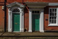 topsy and turvy (lowooley.) Tags: york green doors topsyturvy