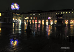 Still raining on Turin (alessiochiolo) Tags: torino turin rain raining pioggia piove meteo weather square piazza horse san carlo italia piemonte italy italian architecture arc art artwork architettura luci lights natale christmas night water reflection mirror notte dark winter wet tripod city cityscape cityview lovelycity città life colors colori beauty good awesome air place flickrelite cool portrait buildings costruzioni street
