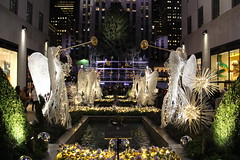 Rockefeller Center is all set for the holidays. Now only thing left is for the lights to be turned on. (AndrewDallos) Tags: york nyc new city manhattan center christmas tree rockefeller holidays