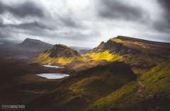 Trotternish ridge (Steffen Walther) Tags: 2016 reise schottland trotternish canon5dmarkiii canon1740l scotland uk britain skye quiraing ridge travel highlands landscape nature light green lake outdoors clouds path rocks steep contrast distant wanderlust hiking trekking reisefotolust vsco