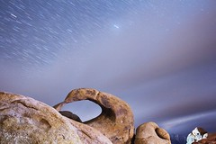 Mobius Arch Among the Stars (bryanana) Tags: alabamahills camping clouds desert easternsierras highway395 lonepine longexposure mobiusarch nature nightshot outdoors rockformations stars night travel roadtrip canon 1740mm wide angle