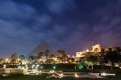 Gizah, Egypt (stefan_fotos) Tags: afrika architektur hotel kairo licht menahouse nacht pyramide qf reisethemen urlaub hq ägypten egypt africa gizah cairo