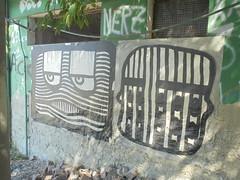 260 (en-ri) Tags: faccia face viso volto modena wall muro graffiti writing nero bianco