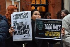 1000 days : #WikiLeaks Julian Assange's in the Ecuador Embassy in London (LondonPictureCapital) Tags: uk london 1000days wikileaks julianassange assange embassyofecuador somersetbean julianassange1000days