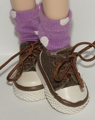 Short Light Purple Socks With White Dots For Blythe...