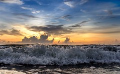 dawn-8-19-2015-wave (hodad66) Tags: beach sunrise dawn florida indialantic sonya7r