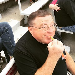 T'Chris enjoying funnel cake fries at the Sky Sox game. #USSZebulonPike / on Instagram https://instagram.com/p/7RSH-EMmq1/