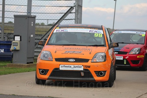 Alexander Tait after Race 2, Fiesta Junior Championship, Rockingham, Sept 2015