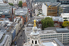 City of London (Garrett Rock) Tags: city uk greatbritain england urban london weather thames architecture clouds buildings square religious gold construction commerce view cross cloudy britain details stpauls plan september business observatory dome round vista churchyard wren christopherwren stpaulscathedral baroque overlook riverthames renaissance anglican banking cityoflondon finance vantagepoint centrallondon lowrise greatfire churchofengland sirchristopherwren toppoint thamesrivermarchitecture