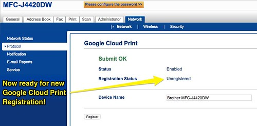 Google Cloud Print - Brother MFC-J4420DW by Wesley Fryer, on Flickr