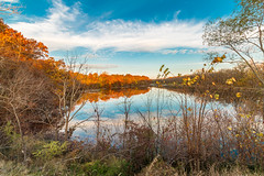 Reflections on the Hennepin Canal (114berg) Tags: morning fall colors reflections early canal illinois hdr hennepin geneseo 02november15