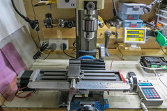 Mini Mill re-assembled complete with Stepper Motor and Controller (tudedude) Tags: mill metal mechanical machine engineering workshop dorset precision engineer drill drilling milling millingmachine gbr machining modelengineering minimill verticalmill tudedude modelenginer smallmill
