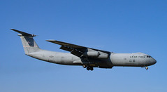 Starlifter (Rod Martins Photography) Tags: blue sky usaf rafmildenhall afrc c141c 445aw 670031 22ndmarch2003