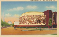 The Food Building No. 2 - 1939 New York World's Fair (The Cardboard America Archives) Tags: newyork building vintage linen postcard 1939 worldsfair