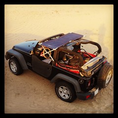 This, plus a pillow, is the extent of my sleeping arrangements. No need for an expensive rooftop tent. A cheap military style cot will do. (danielbennett6) Tags: stealthcamping stealth camping desert jeep wrangler saudiarabia offroad 4x4 campsite rooftoptent rooftop tent