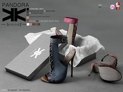 Pandora :: Shoes :: 10 Colors ({kokoia}) Tags: woman high shoes mesh sandals sl heels casual heel stiletto pandora tmp maitreya slink secondlfie kokoia themeshproject