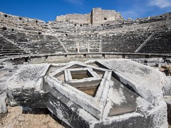 miletus from the front (alison ryde - back in town for now) Tags: world autumn holiday beauty turkey october theatre roman turkiye september traveller explore voyager seeker phototrip turchia turkei 2015 miletus worldtraveller olympuscameras alisonryde olympusem1