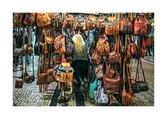 Rua de Santa Catarina, Porto (Sr. Cordeiro) Tags: street woman portugal leather night hair commerce mulher olympus panasonic porto blond noite rua bags 20mm oporto cabelo malas loira omd f17 couro comércio loura em5 ruadesantacatarina