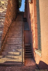 "The ""Exorcist stairs"" in Georgetown, Washington, D.C. (PhotosToArtByMike) Tags: film movie washingtondc dc washington districtofcolumbia georgetown exorcist exorciststairs stonestaircase nation'scapital"
