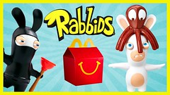 2015 Rabbids McDonalds Happy Meal Toys Full Set of 8 (The Toy Bunker) Tags: girls boys set toy toys happy review 8 mcdonalds full meal 2015 rabbids