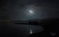 The harvest moon on a cloudy night (yamanaito) Tags: flickr     moon autumn lake yamanaka yamanakako yamanashi japan landscape twiligrt evening