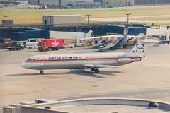 BAC 1-11 YU-ANR London Gatwick 1987 (jonf45 - 2.5 million views-Thank you) Tags: civil aircraft jet plane aeroplane airliner classic adria airways bac 111561rc 111 yuanr london gatwick airport