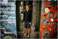 He's Easy (Steve Lundqvist) Tags: station graffiti iron boy teen teenager hairstyle model lacoste sweater hoodie felpa menswear berlin fashion moda shooting streetphotography street ragazzo shorts nikon nikkor 24mm f28 germania germany deutschland berlino alexander platz metal metallic portrait ritratto pose posed mood easy easygoing relaxed bridge subway tube underground metro urban cargo sneackers architecture jacket