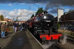 Severn Valley Railway 041116 - DSC_0899 (Leslie Platt) Tags: straightened exposureadjusted cropped severnvalleyrailway kidderminster lms260crablocomotive13065 seasonfinalegala preparingfordeparture