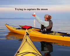 Kayaking with a friend on a full moon night (Inspiredbyournature) Tags: full moon kayaking water