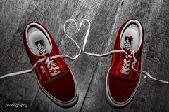 (11/31) Heartbeat (Alex Chilli) Tags: trainers sneakers red vans floor wooden colour pop heart