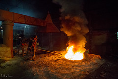 All Your Steel: Furnace Pit (UJMi) Tags: sony nex nex7 iron lahore pakistan steel steelmill fire industrial night electric furnace smelter hardwork ironwork idustry
