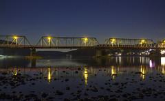 365-338 ( estatik ) Tags: 365338 365 338 october172016 oct mon monday night long exposure 101716 lambertville nj new jersey newhope pa pennsylvania delaware river bridge hunterdon bucks county waterway reflection