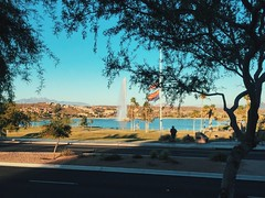 Fountain Hills (tazhitdinova) Tags: arizona water lake usa america cars road street dinner people
