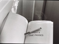 time passes (betulvargun) Tags: cigarette filmisnotdead filmisalive bwfilm filmphotography ifyouleave ilfordpan400 blackandwhite analogphotography bwphotography analogue analog book smoke