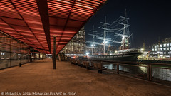 Piers 15 and 17 (DSC04964) (Michael.Lee.Pics.NYC) Tags: newyork pier15 pier17 southstreetseaport tallship fdrdrive lowermanhattan eastriver night longexposure cityscape architecture wavertree sony a7rm2 voigtlanderheliar15mmf45