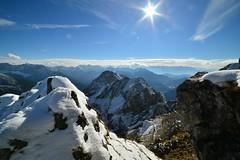Mittenwald - Karwendel (cnmark) Tags: germany deutschland mittenwald austria sterreich bayern bavaria karwendel snow blue sky outdoors mountans mountain range gebirgskette alpen alps sun sunrays allrightsreserved