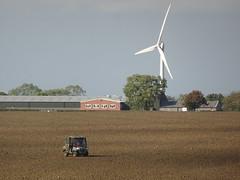 Field crossing (stevenbrandist) Tags: ragdale leicestershire field view kubota atv dog windturbine