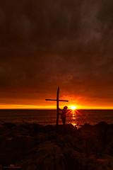 Calling God (gurungbijaya88) Tags: sunrise goldenhour color clouds sun beach lake lakemichigan usa sky outdoor flickr god