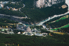 Top Down (eric.vanryswyk) Tags: fairmont banff sulfur mountain gondola forest trees alberta river canada national park mountains landscape nikon d610 nikkor 135mm f28