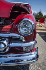 1951 Ford Victoria - Headlight and Chrome (draydogg) Tags: 10thannual 1951 brucealves cambria canoyalves carshow classiccar flat ford fordvictoria grille headlight pinedorado pinedoradocarshow victoria