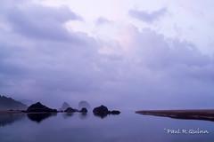 Purple Rain (sixpakaar) Tags: cannon beach oregon blue light purple sunrise water still glass long exposure nikon sand ocean rain