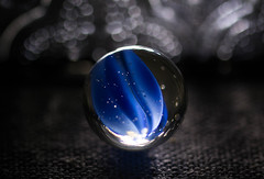 A Moment of Clarity (Captured Heart) Tags: bluemarble glassmarble clarity macro macromondays backlit backlighting bokeh