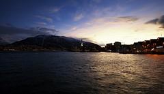 16 (Sergio Eschini) Tags: tromso viaggio travel norvegia normay snow december inverno winter crepuscolo natura landscape citta city luci notte lights night pier porto