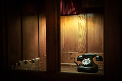 Hotel New Hampshire (PenelopeEfstop) Tags: newhampshire historical hotel indoor phone phonebooth privacy retro spotlight telephone vintage hopperesque light old