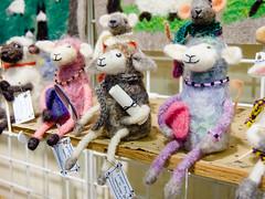 Felted sheep characters by Ingeborg Krebs, Timberwolf Farm (marketkim) Tags: holidaymarket animallovers product eugene oregon saturdaymarket festival artfair eugenesaturdaymarket artfestival