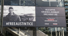 The banner was unveiled on Nov. 2 outside the Newseum's exterior on Pennsylvania Avenue.