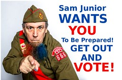 SAM VOTE (asmith.yyz) Tags: uncle sam vote america election scout beard