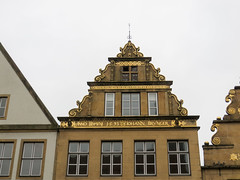 IMG_5426 (jaglazier) Tags: 1593 1593ad 16thcentury 16thcenturyad 2016 91716 architecture bielefeld buildings cityscapes copyright2016jamesaglazier germany houses johannbrunger latin northrhinewestphalia roofs september windows clouds gilded gingerbread gold inscriptions ornaments reconstructed restored stonebuildings streetscapes writing